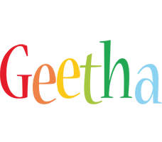 Geetha birthday logo