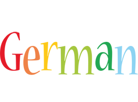 German birthday logo