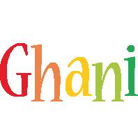 Ghani birthday logo