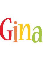Gina birthday logo