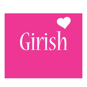 Girish Logo Name Logo Generator - I Love, Love Heart ...