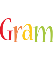 Gram birthday logo