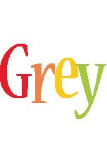 Grey birthday logo