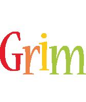 Grim birthday logo