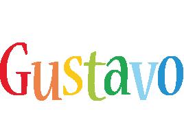 Gustavo birthday logo
