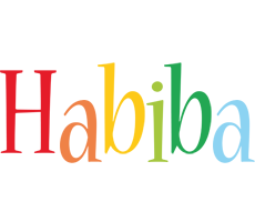 Habiba birthday logo