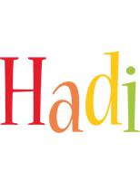 Hadi birthday logo