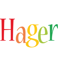 Hager birthday logo