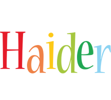 Haider birthday logo
