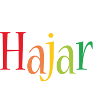 Hajar birthday logo