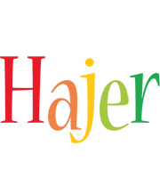 Hajer birthday logo