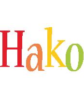 Hako birthday logo