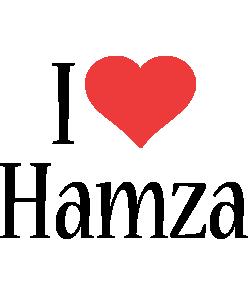 Hamza Logo Name Logo Generator I Love Love Heart