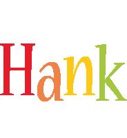 Hank birthday logo