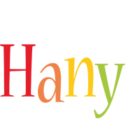 Hany birthday logo