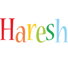 Haresh birthday logo