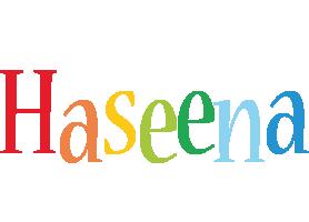 Haseena birthday logo