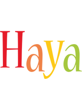 Haya birthday logo
