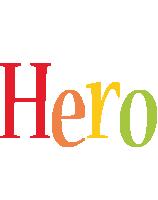 Hero birthday logo