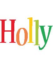 Holly birthday logo