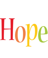 Hope birthday logo