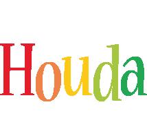 Houda birthday logo