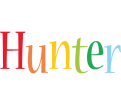 Hunter birthday logo