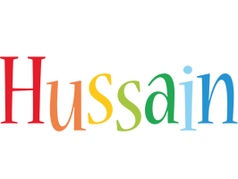 Hussain birthday logo