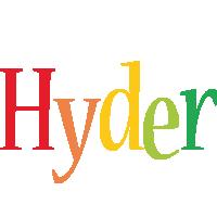 Hyder birthday logo