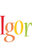 Igor birthday logo