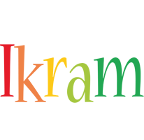 Ikram birthday logo