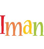 Iman birthday logo