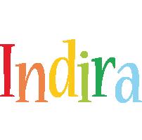 Indira birthday logo