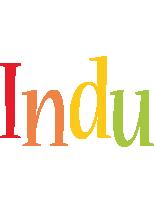 Indu birthday logo