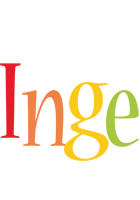 Inge birthday logo