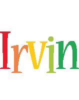 Irvin birthday logo
