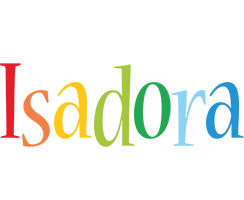 Isadora birthday logo