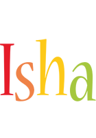Isha birthday logo