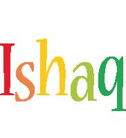 Ishaq birthday logo