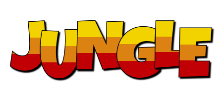JUNGLE logo effect. Colorful text effects in various flavors. Customize your own text here: http://www.textGiraffe.com/logos/jungle/