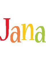 Jana birthday logo
