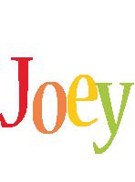 Joey birthday logo