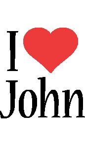 John Logo | Name Logo Generator - Kiddo, I Love, Colors Style