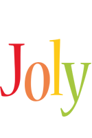 Joly birthday logo
