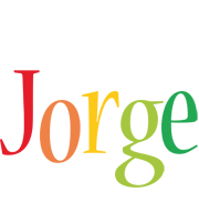 Jorge birthday logo