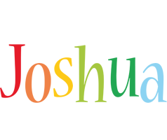 Joshua birthday logo