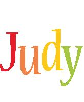 Judy birthday logo