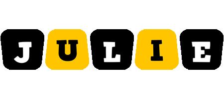 Julie boots logo