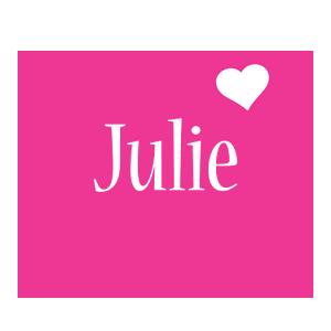 Julie love-heart logo