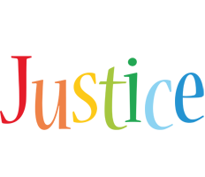 Justice birthday logo